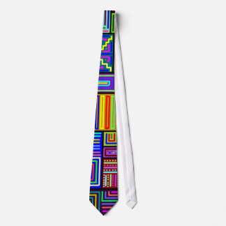 Squares and Rectangles Multicolored Tie Custom