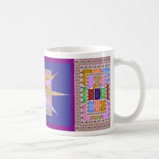 Squares and Star Mosaic Basic White Mug