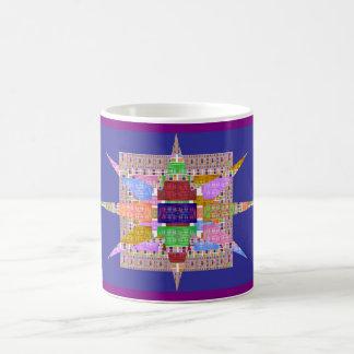 Squares and Star Mosaic Morphing Mug