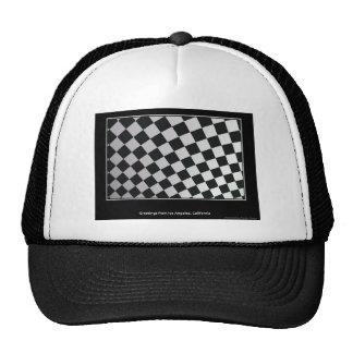 Squares black and white cap