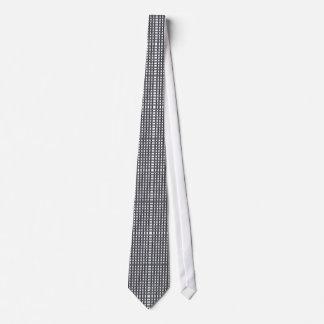 Squares Black White Tie