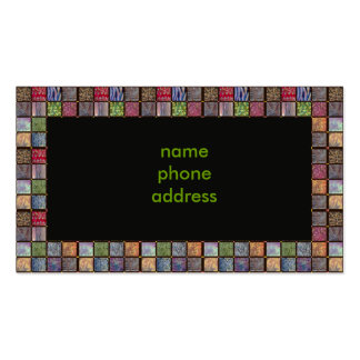 squares, pack of standard business cards