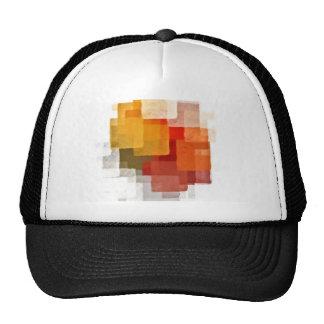 squares colorful paint pattern cap