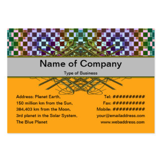 Squares Inverted Alternate Pack Of Chubby Business Cards