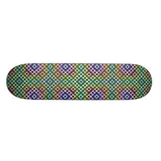 Squares Inverted Alternate Skate Board Deck