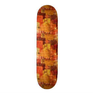 Squares on the grunge wall, abstract background 20 cm skateboard deck