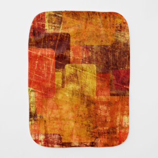 Squares on the grunge wall, abstract background burp cloth
