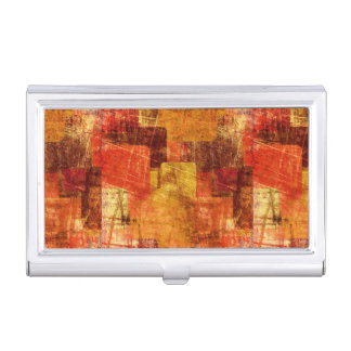 Squares on the grunge wall, abstract background business card holder