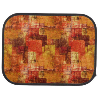 Squares on the grunge wall, abstract background car mat