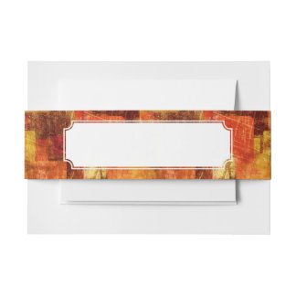 Squares on the grunge wall, abstract background invitation belly band