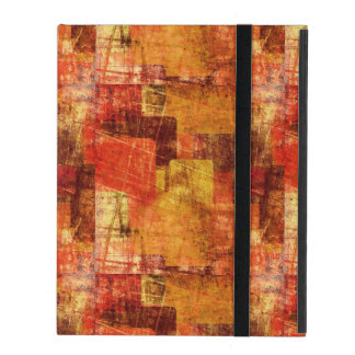 Squares on the grunge wall, abstract background iPad cover