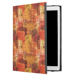 """Squares on the grunge wall, abstract background iPad pro 12.9"""" case"""