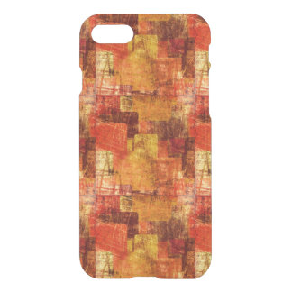 Squares on the grunge wall, abstract background iPhone 8/7 case