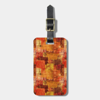 Squares on the grunge wall, abstract background luggage tag