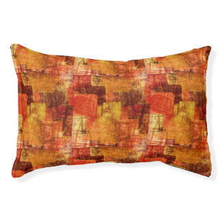 Squares on the grunge wall, abstract background pet bed