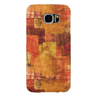 Squares on the grunge wall, abstract background samsung galaxy s6 cases