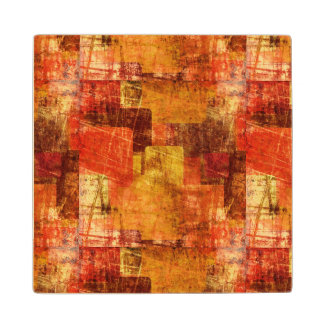 Squares on the grunge wall, abstract background wood coaster