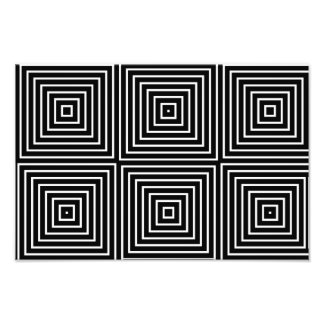 Squares optical illusion photo print