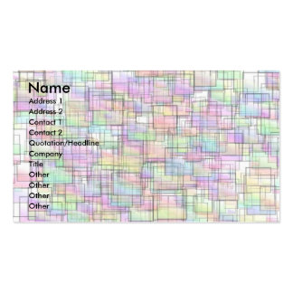 Squares Pack Of Standard Business Cards