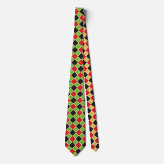 Squares Pattern black red white + your idea Tie