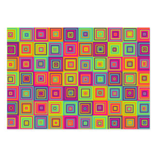 Squares Pattern Pack Of Chubby Business Cards