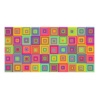 Squares Pattern Photo Card Template