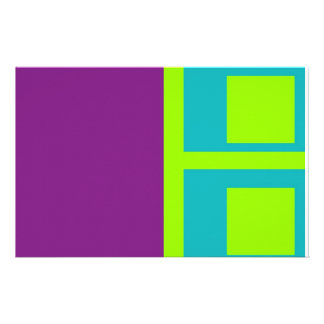 squares personalized stationery
