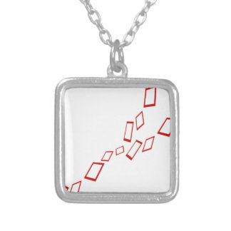 squares square pendant necklace