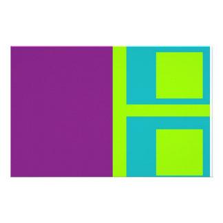 squares custom stationery