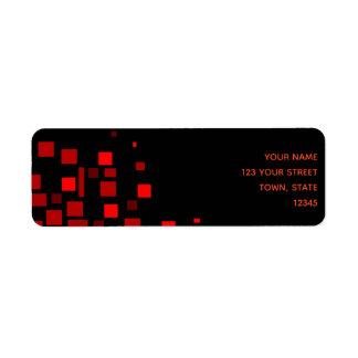 Squares Vibrant Black Red Geometric Stylish Chic
