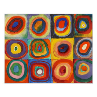 Squares with Concentric Circles by Kandinsky Poster