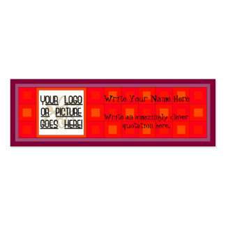 Squaresville Red Hot Boxes Pack Of Skinny Business Cards