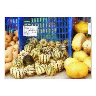 Squash at Farmer's Market Custom Announcement
