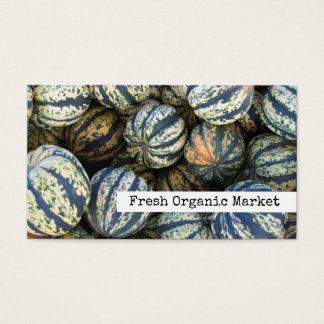 Squash, Autumn Harvest Fresh Organic Farm Market Business Card
