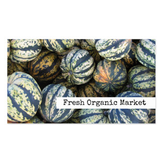 Squash, Autumn Harvest Fresh Organic Farm Market Pack Of Standard Business Cards