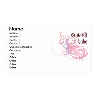 Squash Babe Business Cards