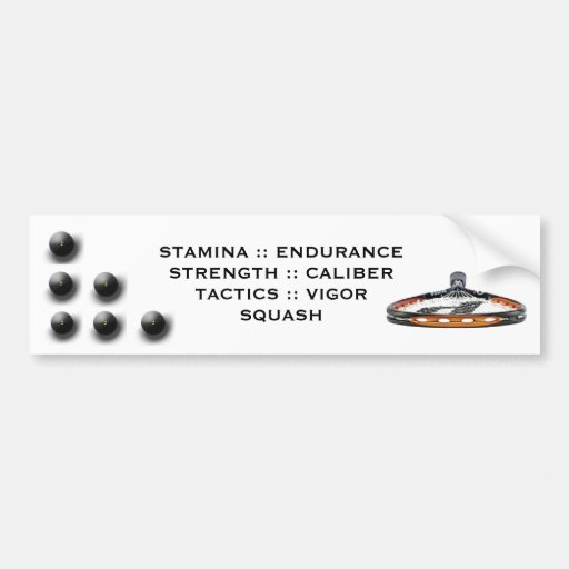 Squash Bumper Stickers