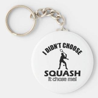 squash design basic round button key ring