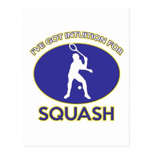 squash design postcard