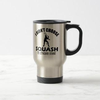 squash design stainless steel travel mug