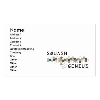 Squash Genius Pack Of Standard Business Cards
