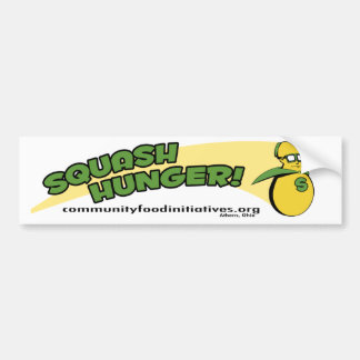 Squash Hunger with Super Squash! Bumper Sticker