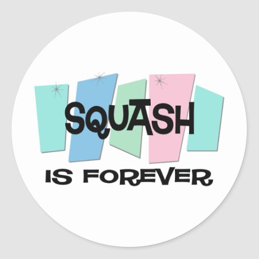 Squash Is Forever Stickers
