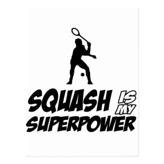 squash is my superpower postcard