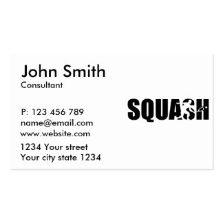 Squash Pack Of Standard Business Cards
