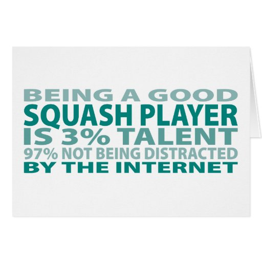 Squash Player 3% Talent Cards