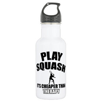 Squash player designs 532 ml water bottle