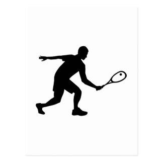Squash player postcard