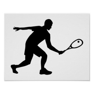 Squash player poster