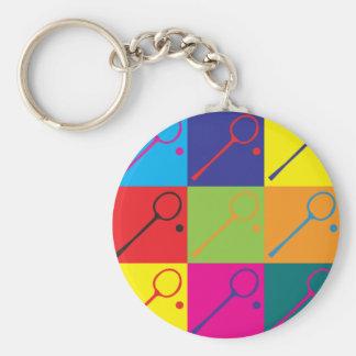 Squash Pop Art Basic Round Button Key Ring